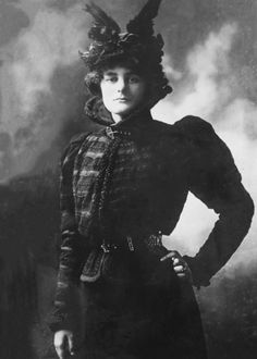 Maud Gonne with a fantastic outfit. That hat!