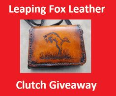 Leaping Fox Pup Leather Clutch Giveaway