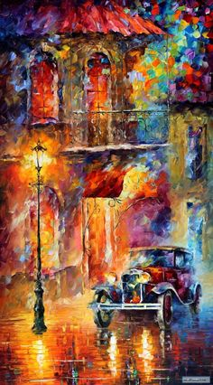 Vitebsk Light — PALETTE KNIFE Oil Painting On Canvas By Leonid Afremov studio