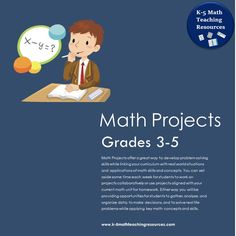 Math Projects offer a great way to develop problem solving skills while linking your math curriculum with real world situations and applications of math skills and concepts.