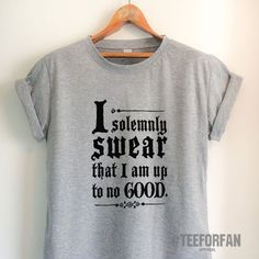 Harry Potter Shirts Harry Potter Merchandise I Solemnly Swear That I Am Up To No Good T Shirts Clothes Apparel Top Tee for Women Girls Men