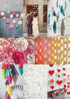 #DIY Paper Wedding #Backdrops Mood Board from The #Wedding Community  #weddingideas #DIYwedding #handmadewedding