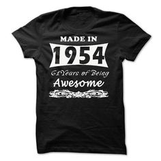Made in 1954 - 61 years of being awesome - #vintage tee #striped sweater. SATISFACTION GUARANTEED => https://www.sunfrog.com/Names/Made-in-1954--61-years-of-being-awesome-76728772-Guys.html?68278