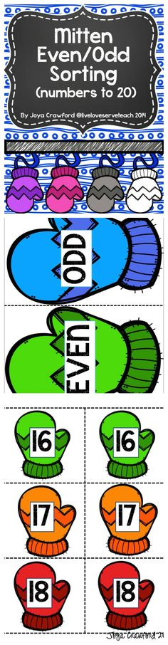 FREE even and odd sorting activity. Includes numbers Also includes ideas for ways to use the number cards and how to differentiate. Fun Classroom Activities, Math Classroom, Kindergarten Math, Teaching Math, Preschool, Math Work, Fun Math, Maths, Math Strategies