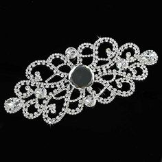 Seasofbeauty Clear Crystal Rhinestone Applique Sew On Wedding Bridal Dress DIY Sewing Craft -- You can get more details by clicking on the image.
