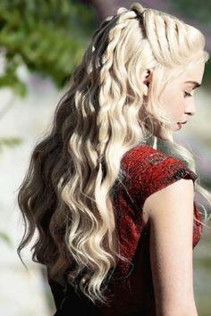 La coiffure romantique de Daenerys Targaryen