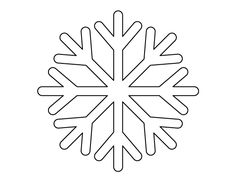 Simple Snowflake Template