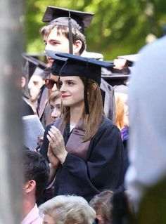 """Emma Watson. """"People told me it wasn't possible"""" when it came to graduating from the prestigious ivy league. """"I kept saying, 'I don't care.' This is what I want.""""#emmawatson#brownuniversity#graduation#congratulations"""