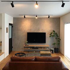 Living Room Tv Cabinet, Ikea Living Room, Living Rooms, Office Interior Design, Room Interior, Living Room Tv Unit Designs, Simple Tv Unit Design, House Plans With Pictures, Living Room Lighting