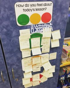 "How we use my Stop Light Exit Ticket for formative assessment: I introduced Google Slides to my students and showed them how they would be collaborating on editing one presentation together. A partnership would choose one character trait that I preloaded into the presentation and describe something that a person with that trait might say or do. Afterward I had them write on sticky notes to adhere to my Stop Light board.  Comments ranged from ""Today I learned that technology is growing fast""…"