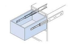 Touch Release Ball Cage Drawer Runner - 500mm preview