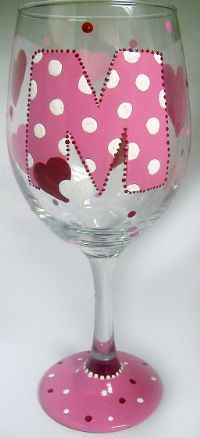 Personalized Wine Glasses - HandPainted Glassware : Personalize Wine Glasses : mason jar wine glass, Dog Treats Jar, adult sippy cup, personalized kids cups, and cool jeweled iphone 4 cases, kitchen aid stand mixers