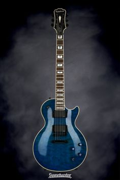 Epiphone Prophecy Les Paul Custom EX Plus - Midnight Sapphire | Sweetwater.com