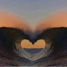 wave of love ,heart Ocean Heart, Heart In Nature, Heart Art, Beach Heart, Nature Nature, Cool Pictures, Beautiful Pictures, Beautiful Heart Images, I Love Heart