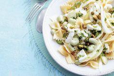 Kijk wat een lekker recept ik heb gevonden op Allerhande! Pastasalade met tuinbonen