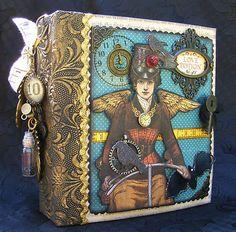 Cute gift idea for Shayla for DC pics / Graphic 45 Steampunk Spells mini album