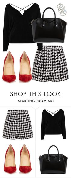 """Untitled #88"" by ridzley on Polyvore featuring Emma Cook, River Island, Christian Louboutin, Givenchy and Kendra Scott"