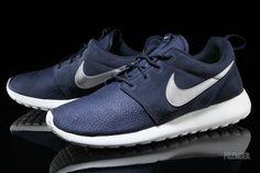 5177cbd7402d Nike Roshe Run Suede - Obsidian - Silver - SneakerNews.com