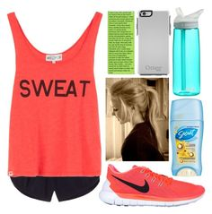 """""""Sweating"""" by eemsles ❤ liked on Polyvore featuring NIKE, Victoria's Secret, Wildfox and CamelBak"""
