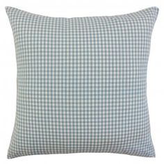Spruce up your living room or bedroom with this plaid throw pillow. This accent piece creates a sense of texture and dimension with its classic pattern in shades of aqua blue and white. Mix and match with other plaid pillows from our extensive collection. Made of 100% high-quality cotton fabric. Crafted in the USA. $55.00 #pillows #homedecor #plaid #interiorstyling