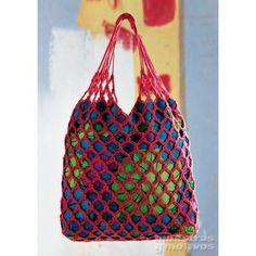 Bolsa de playa para tejer a #crochet. #DIY #ganchillo #patron #muestras…