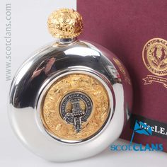 MacLean Clan Crest Sporran Flask. Free worldwide shipping available
