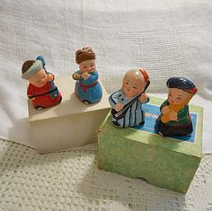 4 Darling CHINESE ASIAN Boys Band Pencil Sharpeners by AzaleaTrail