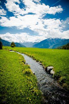 Waal river in Vinschgau - South Tyrol