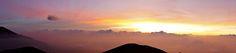 Sunrise up on Mount Merapi