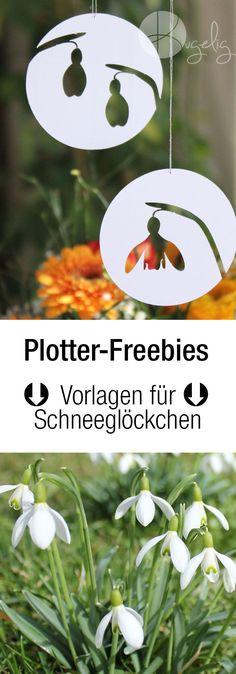 Schneeglöckchen Plotterfreebie, Silhouette, DXF, SVG, PDF