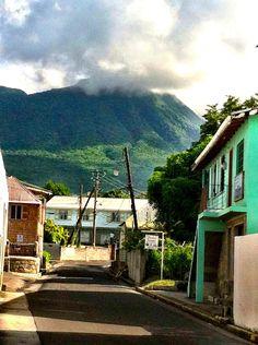 Nevis Peak as seen from Charlestown, Nevis