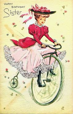Vintage Bicycle Sister