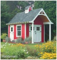 Do you want to make a statement with your new shed?  Here's a list of free plans for some pretty wild designs. You'll find an old west saloo...