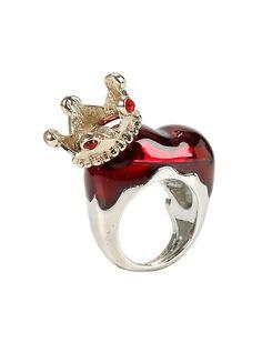 Disney Alice In Wonderland Red Queen Ring,