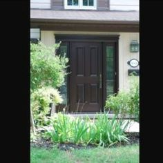 Side Light Entry Doors | Amberwood Doors Inc. Modern Wooden Doors, Wooden Main Door Design, Entry Doors, Front Doors, Double Doors Exterior, Custom Design, New Homes, House Design, Front Porches