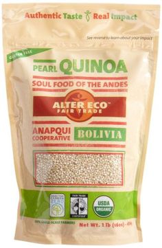 Alter Eco Fair Trade Pearl Quinoa, 16-Ounce Pouches (Pack of 8) $33.14