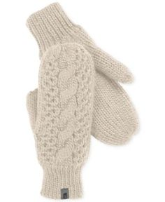 The North Face Cable Knit Mittens $40! Click to purchase (via Macys)