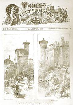 1884-Esposizione Generale Italiana Il Borgo Medievale fu costruito per ospitare l'Esposizione.  1884-The Medieval Village was built for the Italian General Expo #worldsfairs