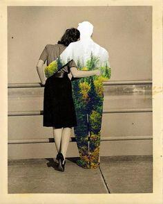 Tocchi di colore sugli scatti vintage: i collage pop di Merve Özaslan