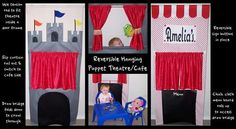 Reversible puppet theatre and café I made for my daughter Amelia