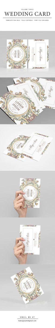 (FOR SALE) Wedding Invitation Template - Volume 3 on Behance