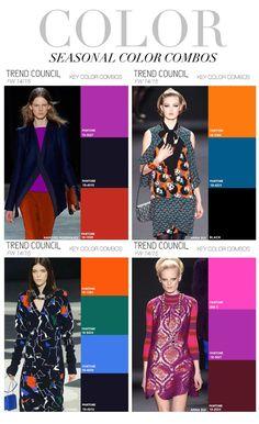 Trend Council. Combos de cores para o Inverno .(Seria para o inverno de 2015 nosso, mas como somos sortudas podemos usar as tendências antes)