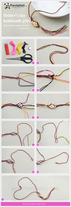 Distinctive necklace patterns might be great choices for upcoming mother s day handmade gifts! And this netted stone one is what we carefully select for you. Hemp Jewelry, Macrame Jewelry, Macrame Bracelets, Jewelry Crafts, Handmade Jewelry, Handmade Gifts, Jewellery, Diy Necklace, Stone Necklace