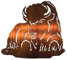 The Resting Buffalo Wall Art will go great in any home!  www.rusticeditions.com