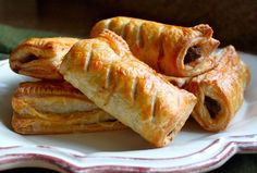 Scottish Sausage Rolls made with beef are a great traditional Scottish meal or snack. Crispy puff pastry on the outside make them irresistable.