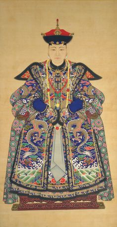 Chinese Art   Portrait of a Manchu Noblewoman (Lady-in-Waiting to Empress)