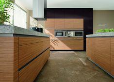 Inspirational K che modern Holz grifflos Granit Arbeitsplatte bei M bel Morschett