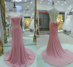 Pink Chiffon Prom Dress,Cap Sleeves Prom Dresses Long Sheer Scoop Crystals Pearls Court Train Evening Gowns Evening Dress sold by Fashion Shop. Shop more products from Fashion Shop on Storenvy, the home of independent small businesses all over the world. Prom Dresses Long Pink, Junior Prom Dresses, Strapless Prom Dresses, Prom Dresses 2016, Elegant Prom Dresses, Beaded Prom Dress, Prom Dresses With Sleeves, Cheap Prom Dresses, Dress Long
