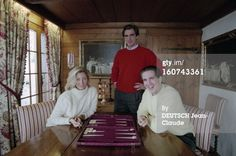 Feb 22, 1996 - Gstaad. Pregnant with Olympia, MC and Pavlos at her parents' chalet with Prince Nikolas