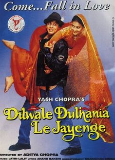 Poster - DDLJ - The Brave Heart Carries Away the Bride - Dilwale Dulhania Le Jayenge (1995)